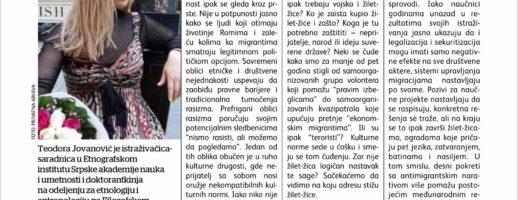 Teodora Jovanović o kulturnom ruhu rasizma, žilet-žici i glasu razuma